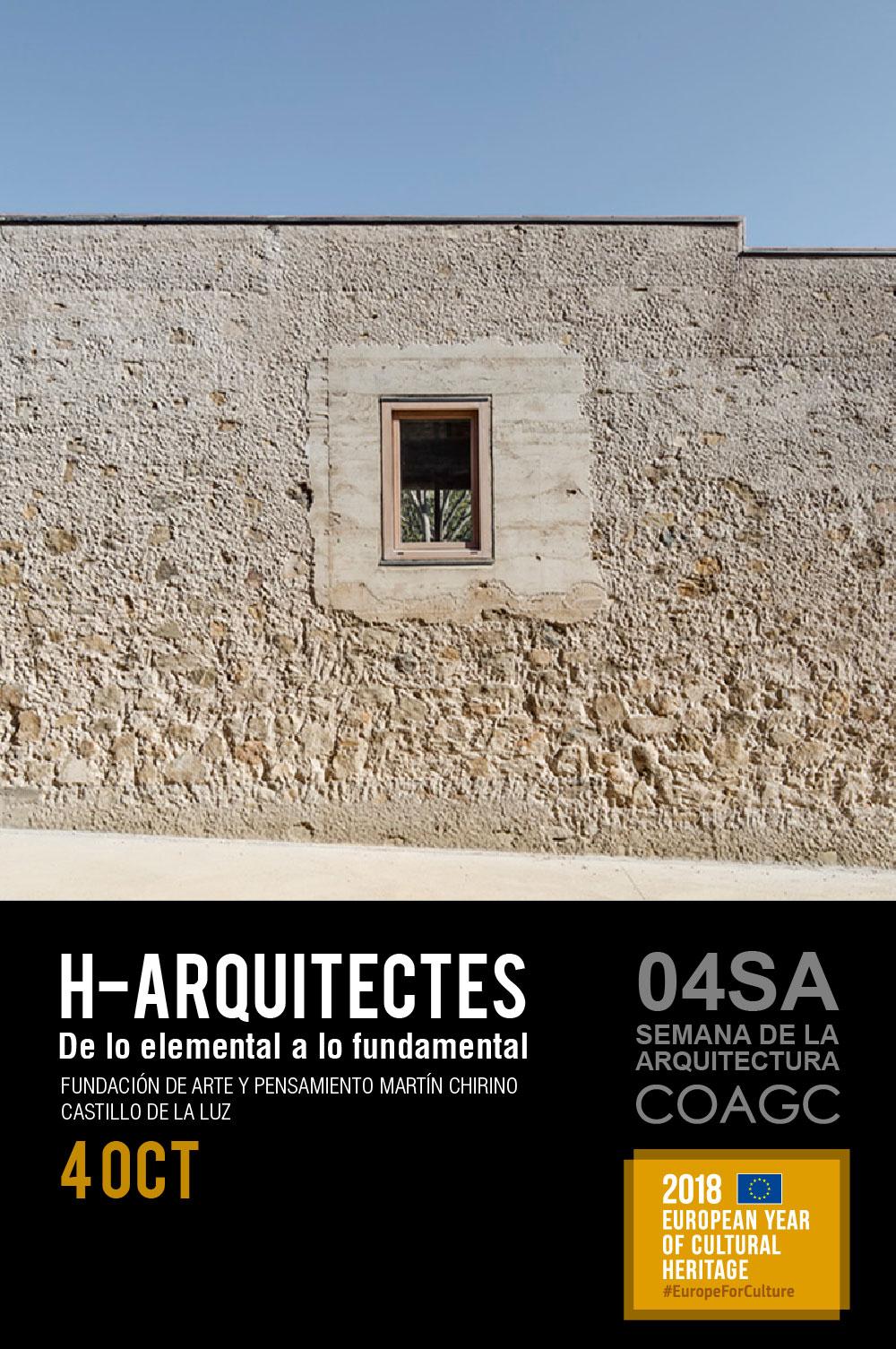 Conferencia 'De lo elemental a lo fundamental' de H-Arquitectes